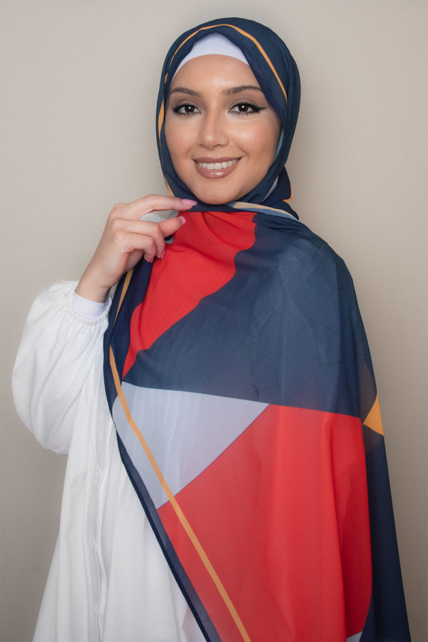 hijab in sunset colors