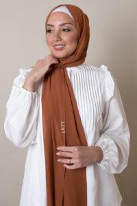 chiffon hijab in rust