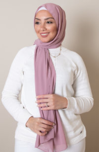 dust rose chiffon hijab