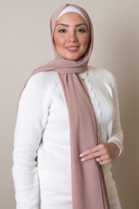 hijab in tan