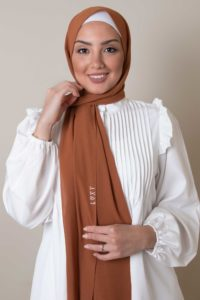 scarf chiffon in rust