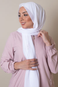 white hijab