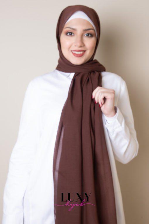 حجاب بلون الشوكولاته