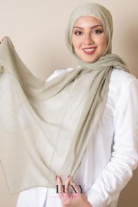 Olive Hijab Scarf Cotton