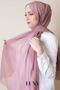 rose hijab cotton