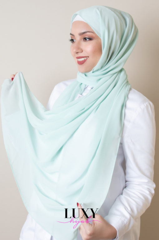 scarf chiffon mint