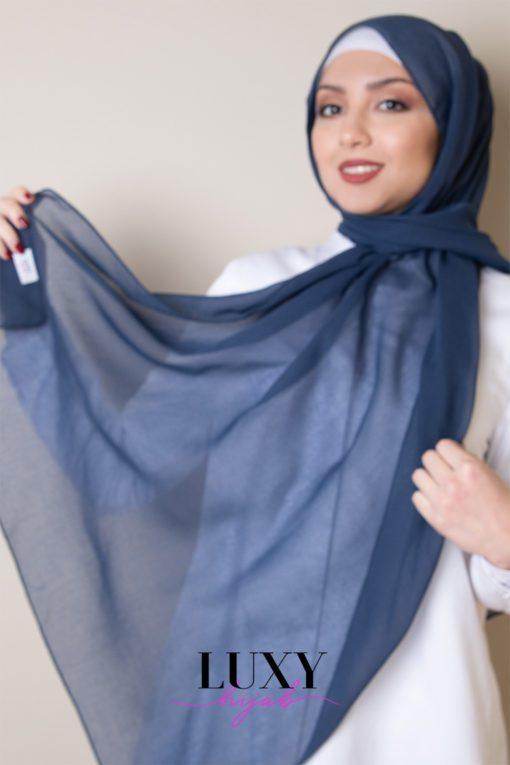 شيله حجاب ازرق