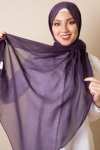 حجاب قطن بنفسجي