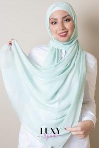 hijab chiffon mint