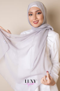 cotton voile hijab in cloud color