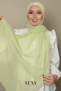 chiffon hijab in lime