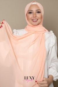 Chiffon Hijab in Salmon