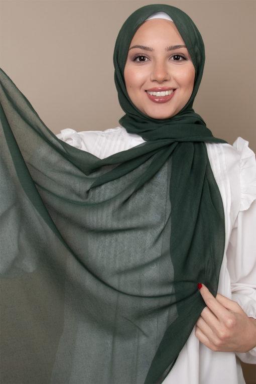 حجاب قطن باللون الاخضر