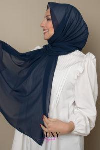 حجاب شيفون بلون الفضاء